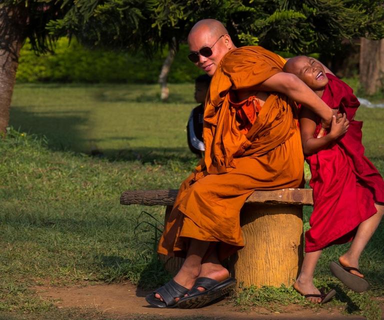 Laughing-monk
